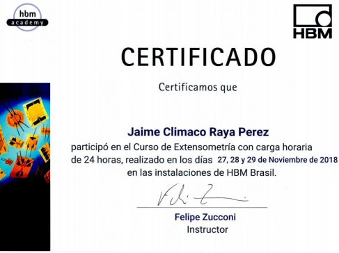 Certificado Jaime HBM